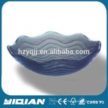 Wave Attractive Design Grey Color Glass Sink