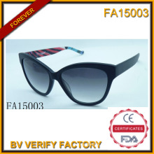 Acetate Material Frame with Polaroid Lens Sunglasses (FA15003)