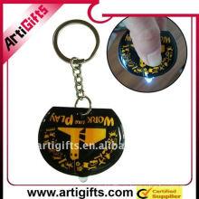 El pvc de goma de los regalos de la promoción llevó el llavero con el anillo partido del metal