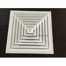 HVAC System Aluminum 4-Way Square Air Diffuser