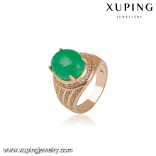 14588 xuping bijoux 18k plaqué or mode nouveaux designs bague cadeau pour dame