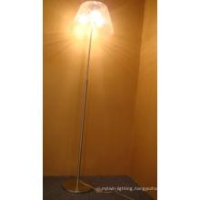 High Quality Glass Floor Lamp Satin Nickel Chinese Cheap Floor Lamp