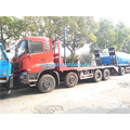 Dongfeng 8x4 flatbed excavator transport truck