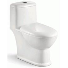 Precio competitivo Baño de una pieza Siphon WC para el mercado de Brasil (6206)