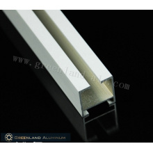 Aluminum Curtain Track Profiles with Brushed White Color