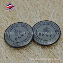 High quality tin pin apparel glitter pin badge with logo