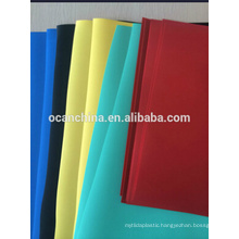 Opaque and Transparent Colored Rigid Plastic PVC Sheet or Film
