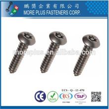 Hecho en Taiwán Acero al carbono Zinc plateado Torx unidad de cabeza de la cacerola auto Tachonado tornillos