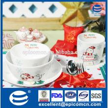 Рождественский подарок для детей Санта украшения фарфора ужин набор