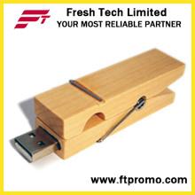 OEM компании Подарочные Bamboo Clip USB флэш-накопитель (D823)