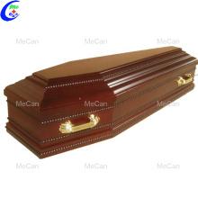 Leichensarg aus Metall und Holz