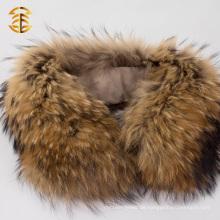 Natürlicher echter Waschbär-Hals-Pelz-Kragen für Jacke