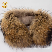 Natural Genuine Raccoon Neck Fur Trim Collar for Jacket