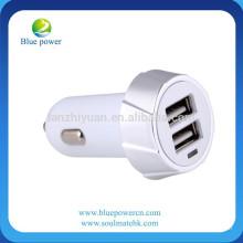 Universal Twin Doble puerto 2 USB 12V en el enchufe del coche más ligero cargador adaptador