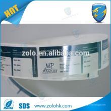 Garantia removível nula se etiqueta quebrada e rótulo de segurança
