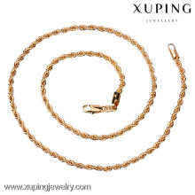China Wholesale 18k gold jewelry, Fashion long gold chain necklace designs, men necklace gold chain