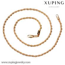 China atacado 18 k jóias de ouro, moda longo colar de corrente de ouro projetos, homens colar de corrente de ouro