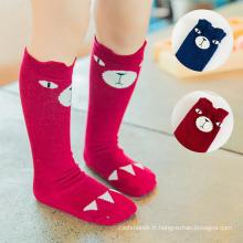 Chaussettes de stockage de tête d'animal du coton 3D des enfants de bébé d'enfants (KA033)