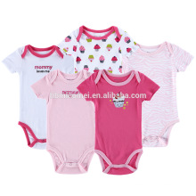 Kleinkinder Kleidung Body Jumpsuites Snap Crotch Baby Strampler Pyjamas Onesie
