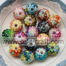 Brilliant Artificial Yellow Ceramic Acrylic Resin Rhinestone Beads