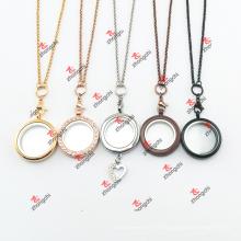 Liga de moda Round Locket encantos Cadeia Presentes Colar (CNG60103)