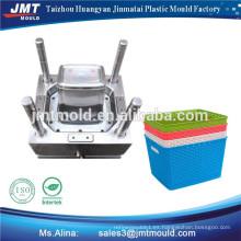 molde plástico de la cesta del supermercado de la inyección