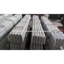 Brida galvanizada 8 'postes de acero (calibre 12)