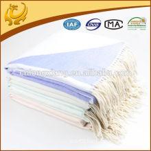manufacture custom fringe acrylic throw blanket