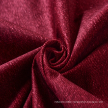 Red Color Print Polyester Velvet Fabric with Tc