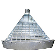 Galvanized MS / GI Steel Spiral Stair Tread Steel Grating