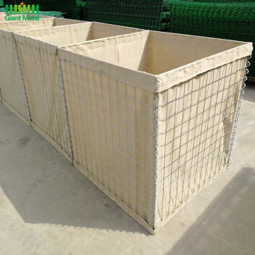 Militärt svetsat partition Sand Wall Hesco Barrier