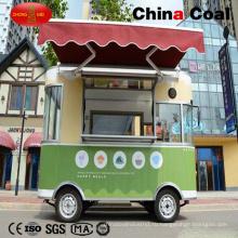 Зеленые Электрические Передвижные Торговые Тележки Еды