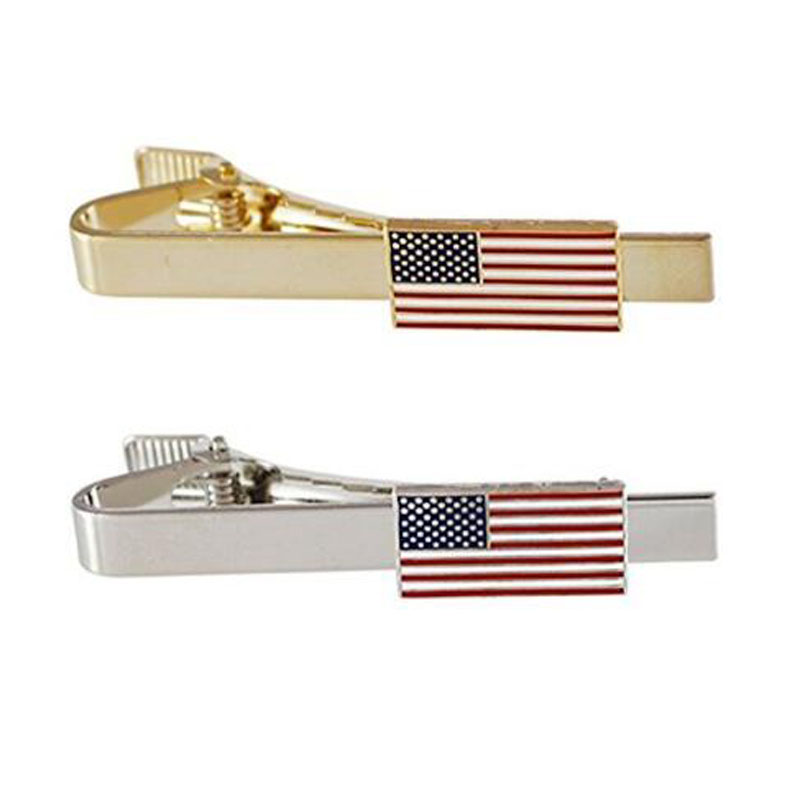 Official American Flag Tie Bars