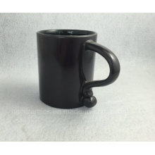 Neue schwarze Tasse, schwarze Kaffeetasse, schwarze Kaffeetasse