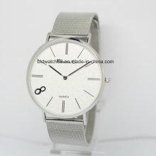 Deportes Militar Relojes de Cuarzo Hombres Mujeres Simple Mesh Band Watch Reloj de pulsera impermeable 40mm