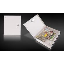 Caja de fuente de alimentación CC de 4 canales 12V5A