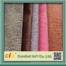 Poliéster Chennille sofá tecido ligado com T / C tecido