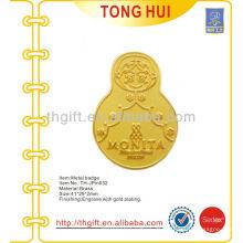 Messing Tumbler Design Souvenir Revers Pin / Abzeichen