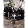 LS00134 elegantes meninas de luxo preto meninas sexy vestido de noite vestido pequeno criança negra