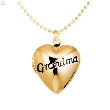 Пользовательские выгравированы алфавит фото с плавающей медальон сердце подвески Подвеска DIY бабуля