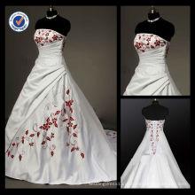 WA00618 Calças elegantes e delicadas, empalhadas, bordadas sem alças, vestido de noiva com um vestido de noiva de tamanho mais