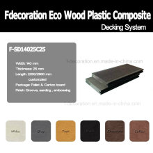 Eco Wood Plastic Composite Decking WPC Outdoor Flooring