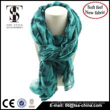 2015 Long Fashionable Design scarf,China scarf factory wholesale flocking shawl