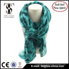 2015 bufanda de moda larga del diseño, China bufanda fábrica que al por mayor que se reúne el mantón