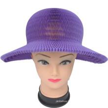 Chapeau en papier pliable pour protection solaire Chapeau d'été pour enfants colorés