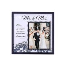 Custom wholesale high quality Retro Wooden Color Art Wedding Family Photo Frame Wall Hanging Creative Picture Frame