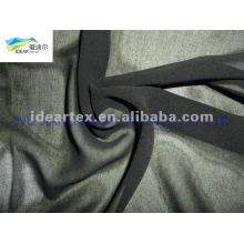 teñido de negro 50D Vestido de gasa para el verano
