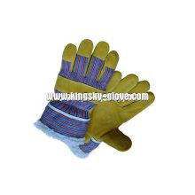 Schwein Split Leder Acryl Pile gefüttert Winter Handschuh (3518)