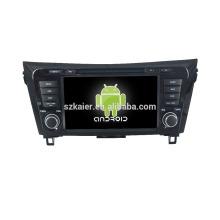 Quad core! DVD de coche con enlace de espejo / DVR / TPMS / OBD2 para pantalla táctil de 8 pulgadas de cuatro núcleos Sistema Android 4.4 NISSAN X-TRAIL / QASHQAI