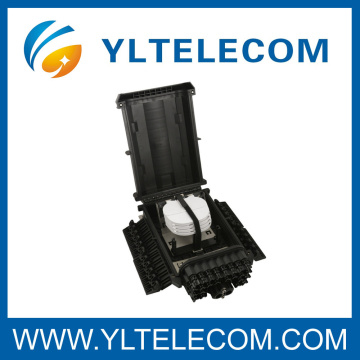 Caixa de terminação de fibra óptica preta 24Core totalmente resistente